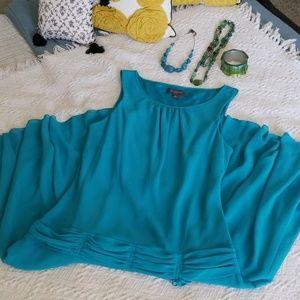 LIZ CLAIBORNE NWOT TURQUOISE DRESS SIZE 14